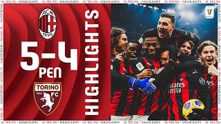 Highlights | AC Milan 0-0 (5-4 pens) Torino | Coppa Italia Round of 16