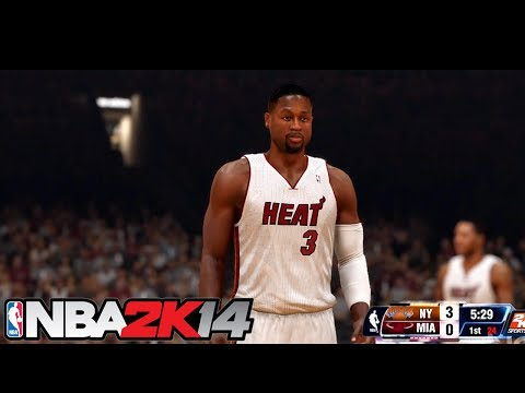 NBA 2K14 - New York Knicks vs Miami Heat Gameplay HD | PS4 & XBOX ONE