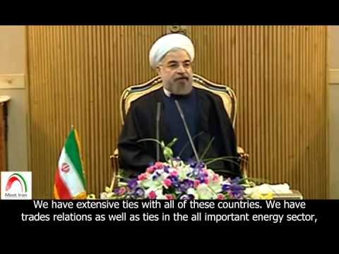 [English sub]. Rouhani heads to China to attend the CICA Summit.