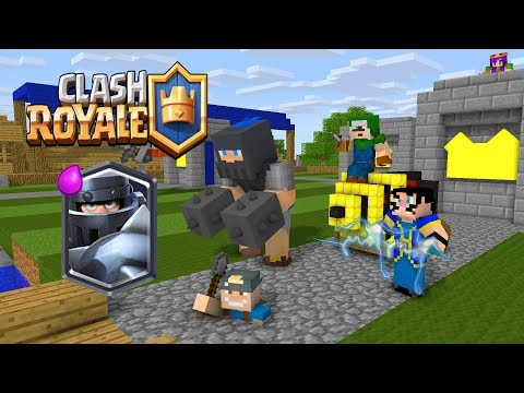 Monster School  Clash Royale Blue King Legendary Deck  Minecraft Animation