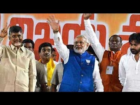 Differences forgotten as Narendra Modi, Chandrababu Naidu put up joint show