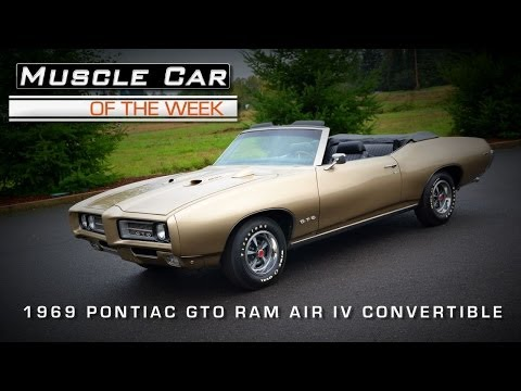 Muscle Car Of The Week Video #29: 1969 Pontiac GTO Ram Air IV