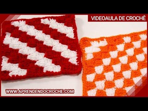 Ponto de Crochê Diagonal - Aprendendo Crochê