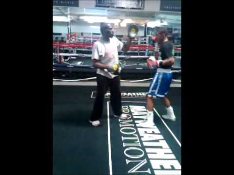 Roger Mayweather Training Caleb - . (First Day)