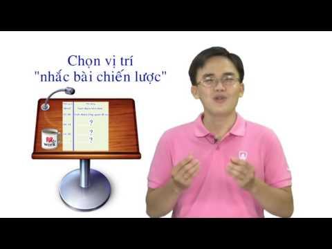 [Lã Quang Vinh] - [TGM-VTC4] Kỹ năng sống số 28- Kỹ năng thuyết trình (Phần 2)
