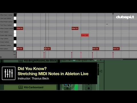 Ableton Live Tips w/ Thavius Beck: How to Stretch MIDI Notes - 'Did you Know?' Pt 9