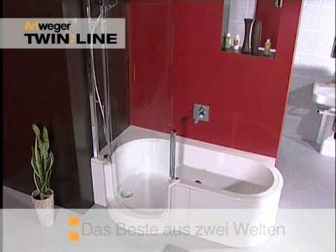 badewanne mit t r twinline von artweger youtube. Black Bedroom Furniture Sets. Home Design Ideas