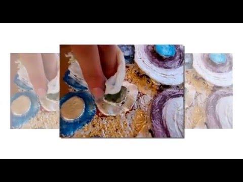 Marco de espejo estilo Gustav Klimt / Gustav Klimt style frame