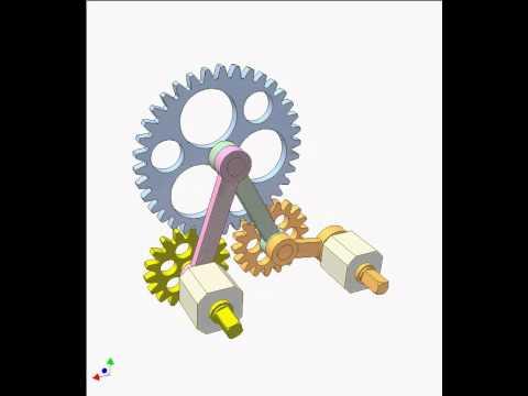 Gear and linkage mechanism 11b