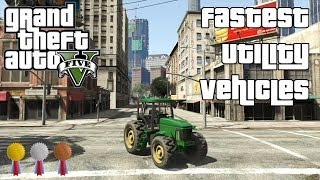 The Fastest Utility Vehicles In GTA V
