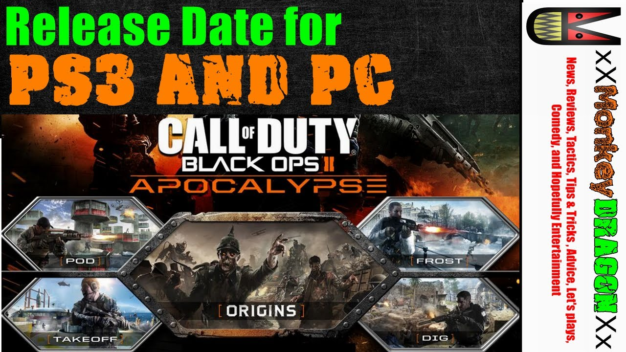 Call of duty black ops 2 release date