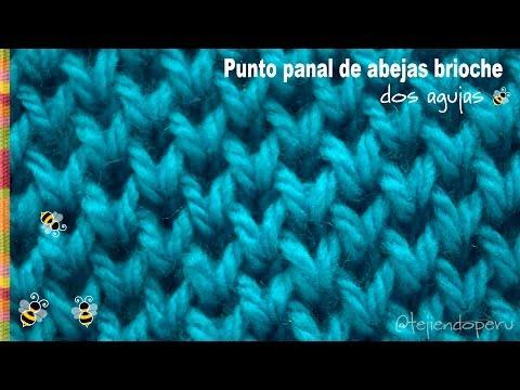 Punto panal de abejas brioche tejido en dos agujas - Tejiendo Perú!