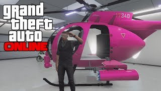 GTA 5 Online - How To Get The Pink Buzzard (Modded Helicopter) Secret