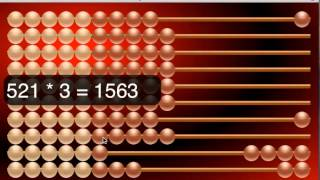 Abacus in action view on youtube.com tube online.