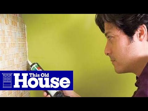to install a glass mosaic tile backsplash this old house youtube
