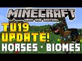 """Minecraft Xbox & Playstation: """"TU19 UPDATE"""" Horse Update Features & New Biomes Possibilities!"""