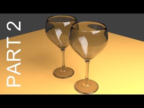 tutorial: Blender Tutorial For Beginners: Wine Glasses - 2 of 2