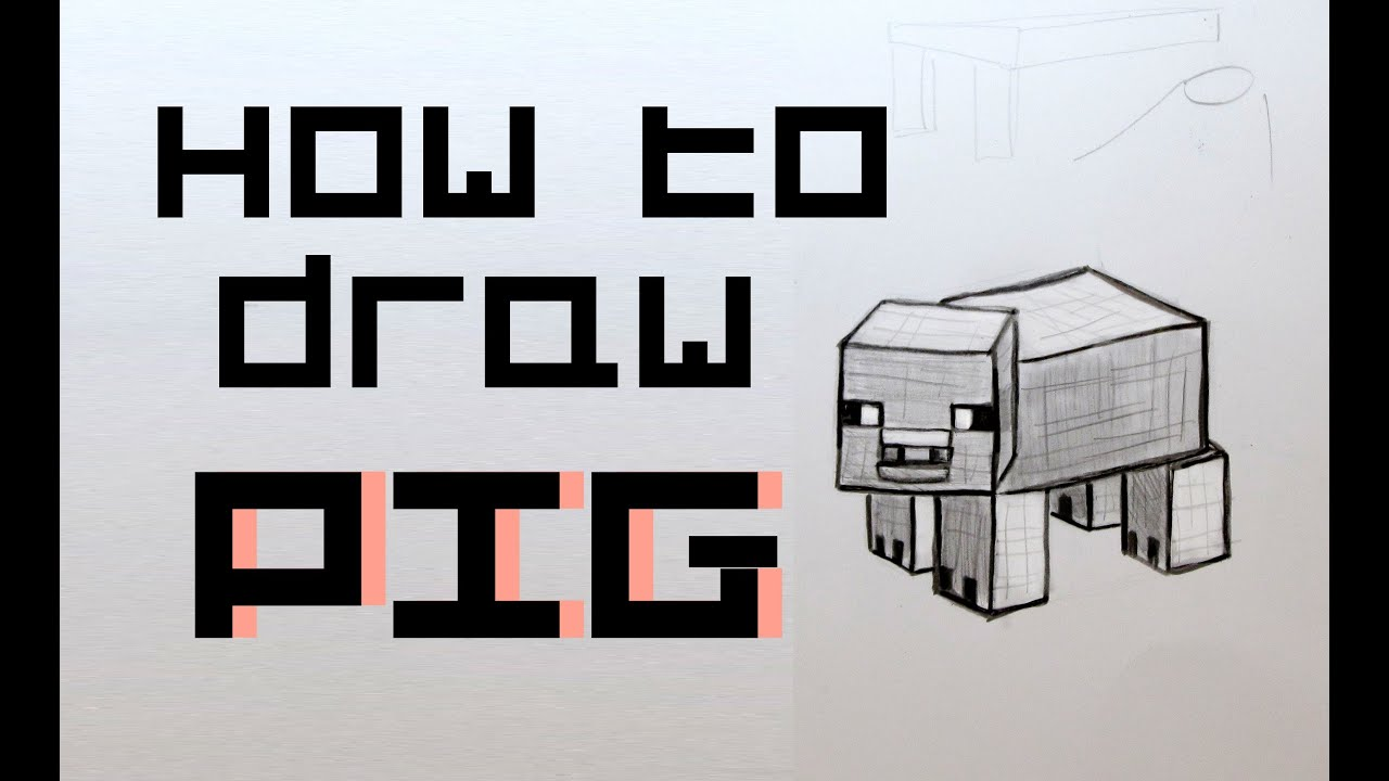 Ep. 80 How to draw a Minecraft Pig