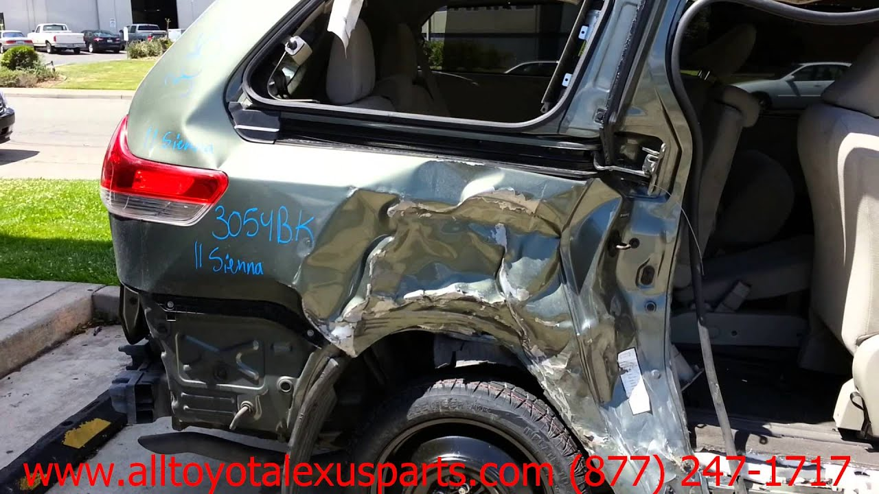 Parting Out 2011 Toyota Sienna Stock 3054bk Tls Auto