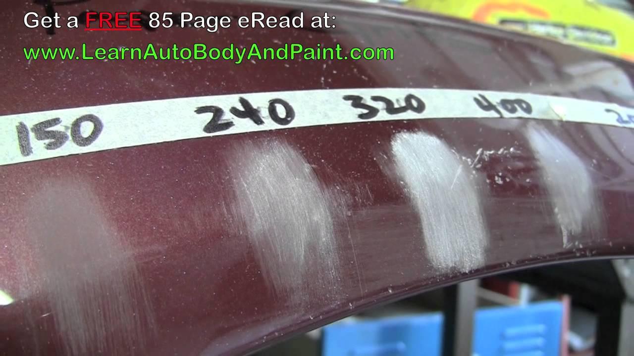Sanding Car Paint Grit