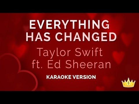 Taylor Swift and Ed Sheeran - Everything Has Changed (Karaoke Version)