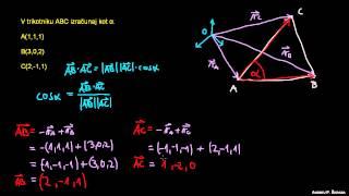 Skalarni produkt in računanje kota 1