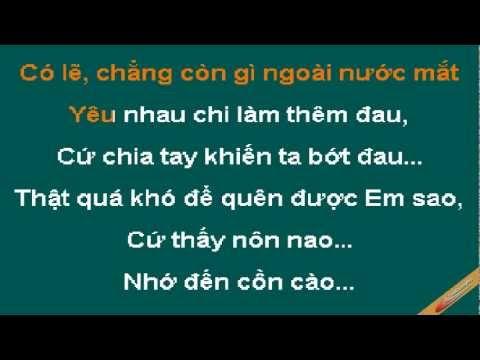 Không Cảm Xúc Karaoke - Hồ Quang Hiếu - CaoCuongPro