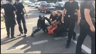 Беспредел Киевских Быков Полиции в Полтаве. ORJEUNESSE.