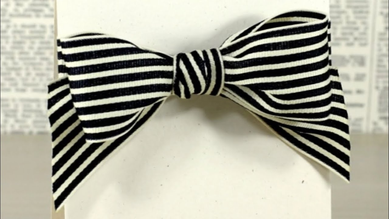 Tying A Bow With Wide Ribbon Youtube