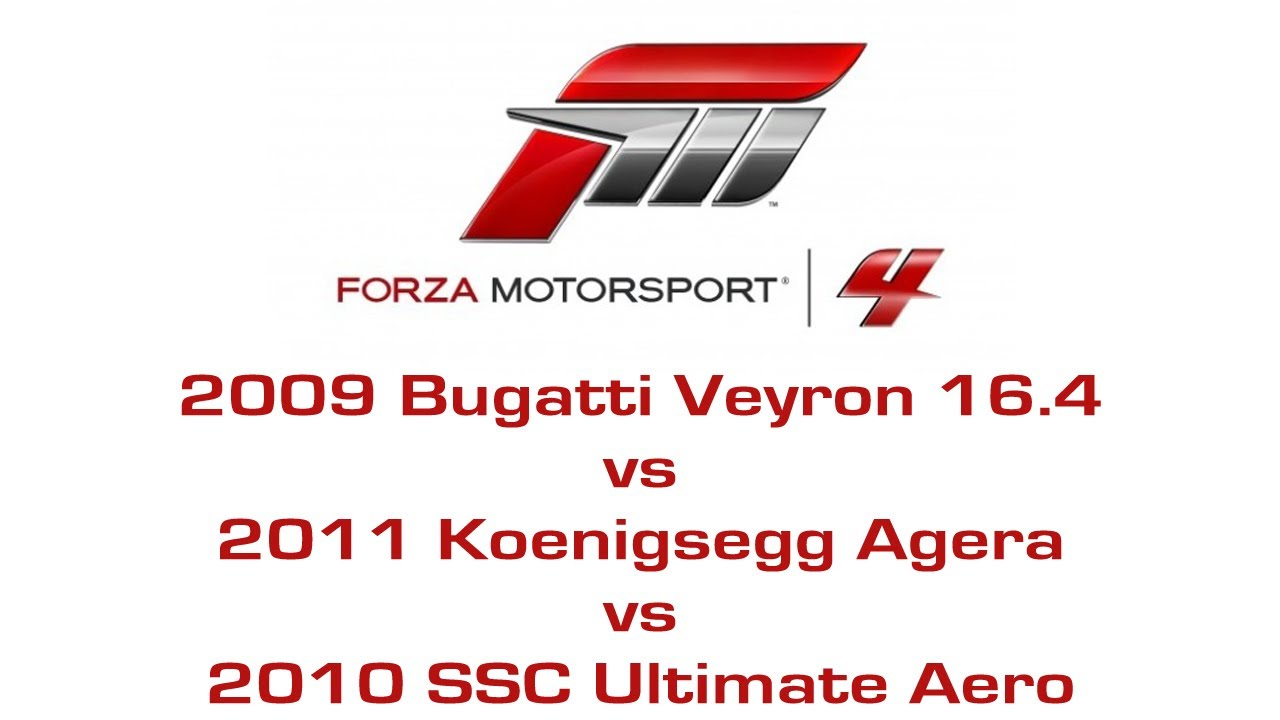 forza motorsport 4 bugatti veyron 16 4 vs koenigsegg. Black Bedroom Furniture Sets. Home Design Ideas