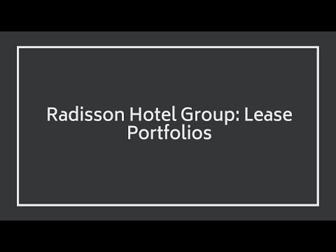 Vice President EMEA Operations at Radisson Hotel Group: Lease Portfolios