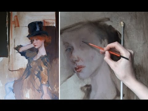 How to paint a nacked body | Oil Painting video lesson |  Portrait painting