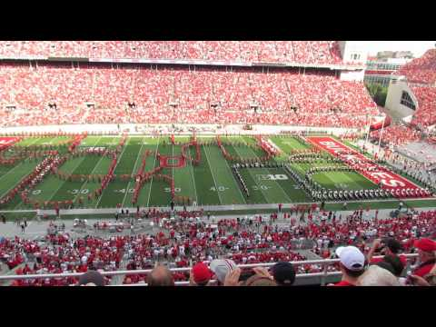 OSUMB 9 7 2013 QUAD Script Ohio with 600 Alumni Band Members OSU vs SD State