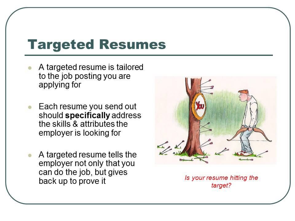 branded and targeted resume basics bc