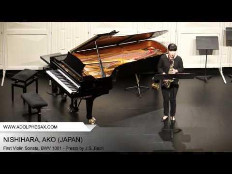 Dinant2014 NISHIHARA Ako First Violin Sonata, BWV 1001 Presto by J S Bach
