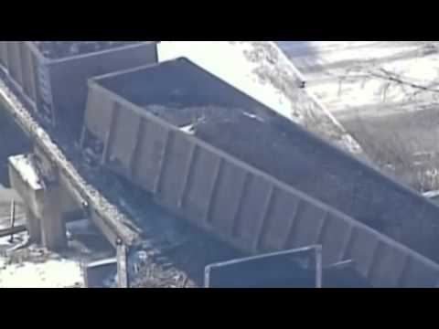 Train derails: 135-car train flies off the tracks in Wisconsin