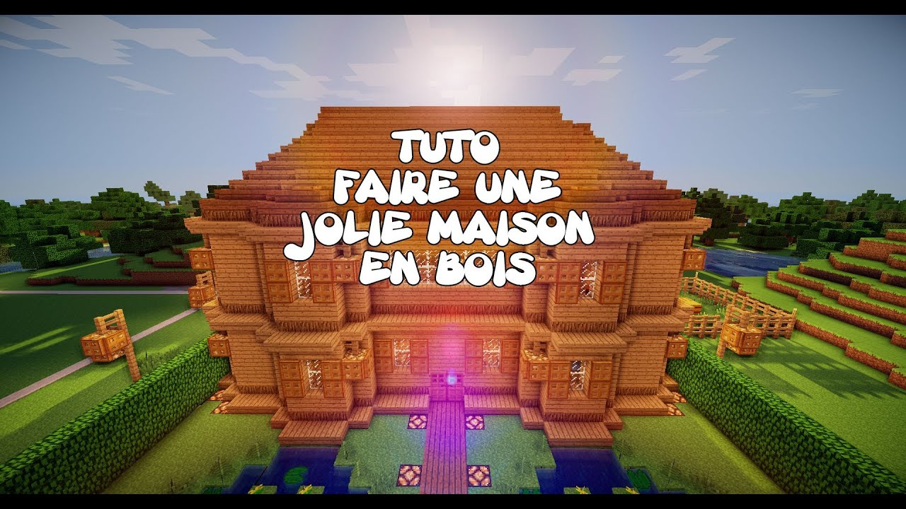 tuto minecraft faire une jolie maison en bois youtube. Black Bedroom Furniture Sets. Home Design Ideas