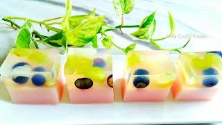 美丽的水果优格燕菜果冻❤How to make Yogurt Fruit Jelly