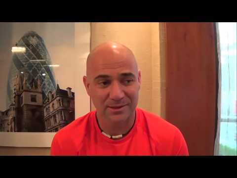 Andre Agassi chats about World Tennis Day