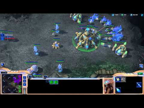 Minigun coaching Destiny on playing protoss [Game 1] - Starcraft 2
