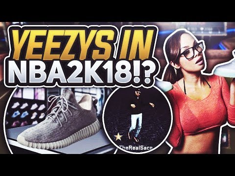BRUH WTF!! 😱 YEEZY'S IN NBA 2K18!? 👟 PULL ALL THE THOTS 💦 KANYE WEST YEEZY ADIDAS NBA 2K18 MyPARK