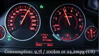 2013 BMW 335i Fuel Consumption Test