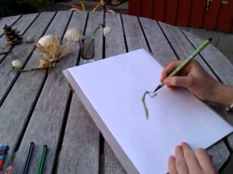 Enkle tegninger av blomster