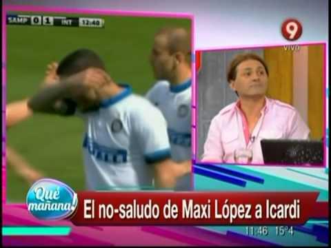 El no-saludo de Maxi López a Icardi