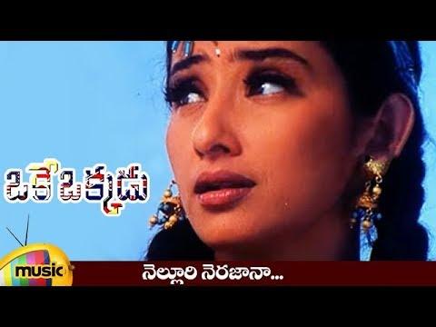 Nelluri Nerajana Song - Oke Okkadu Movie Songs - Arjun Sarja, Manisha Koirala, Sushmita Sen