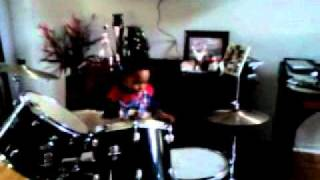 Andrew 7 years old playing the drums.3gp view on youtube.com tube online.