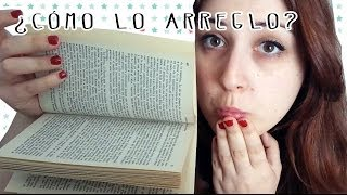 Aprende como arreglar un libro despegado de las tapas