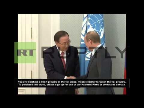 Russia: Ki-Moon and Putin have Syria on their agenda