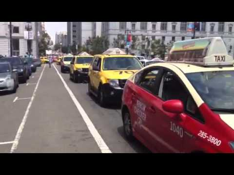 #san Francisco taxidrivers protest