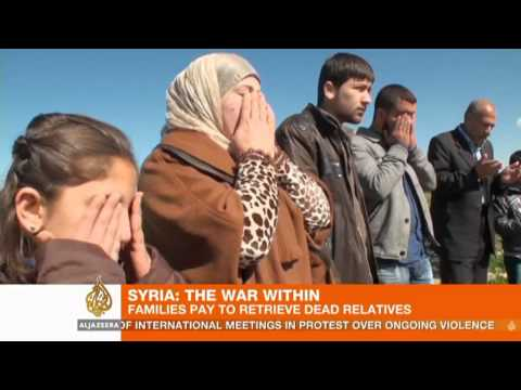 Al-Jazeera English: Syrian families pay to retrieve fallen relatives